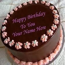 Write Name On Chocolate Birthday Cake And Best Wishes Birthday