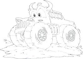 Blaze Coloring Pages To Print Batman Monster Truck Printable Draw
