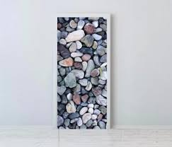 >pebble beach stones door wrap vinyl self adhesive wall art sticker  image is loading pebble beach stones door wrap vinyl self adhesive