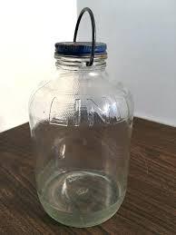 2 gallon glass jar with airtight lid gallon glass jars vintage starch 1 2 gallon glass