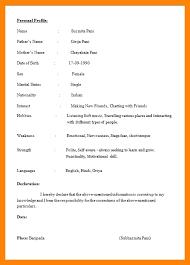 Resume Format Pdf Mesmerizing Student Cv Format Pdf Brave28