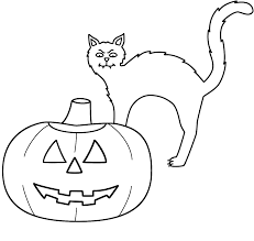 Small Picture Halloween Cat Coloring Pages Printable Archives Gallery Coloring