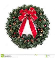 Christmas Wreath With Red Bow Stock Images - Image: 21794724