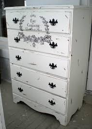 french distressed furniture. Dresser High Boy Chest Shab French Script Paris Bigredbarnbam For White Distressed Furniture A