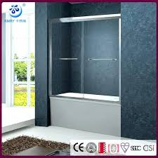 sliding shower door framed bypass fits inches opening clear glass chrome finish elan inch 44 doors