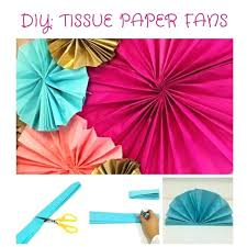 diy paper fans tissue paper fans diy hanging tissue paper fans