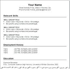 Resume Formats Examples Format For Good Resume Images Of Resume ...