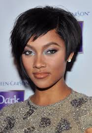 Hairstyles Black Girl Short Hairstyles With Bangs Then Dazzling