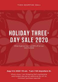 Christmas Flyer Templates Red Holiday Sale Christmas Flyer Templates By Canva