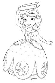 Small Picture Classy Idea Princess Sofia Coloring Pages Princess Sofia Page