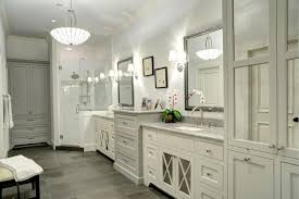 Traditional White Bathrooms Traditional Bathroom With Gray Tile Floors This Traditional
