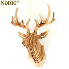 white deer head decor deer head wall decor head of wooden head wall decor white deer