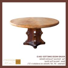 natural wood round dining table dining dining table round table wood base natural finish bullnose marble stone top mod 1204d images