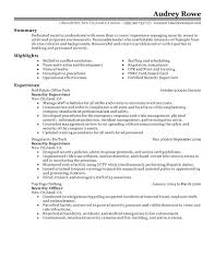 Security Guard Resume Examples Resume Guard Resume Examples Fresh Supervisor Objective For
