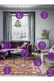 Purple Living Room Furniture Room Reveal Purple And Grey Living Room Sophie Robinson