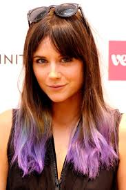 Brown Hair Purple Tips Google Search