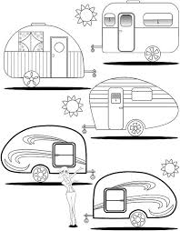 Adult Coloring Page Teardrop Trailers By Colormypages On Etsy How