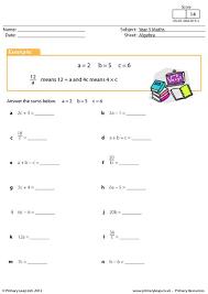 primaryleap co uk simple algebraic expressions worksheet