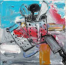 kitchen utensils art. Saatchi Art Artist Mutlu Ertac; Painting, \u201cKitchen Utensils II\u201d #art Kitchen E