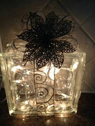 glass block decorations glass block decoration take six ideas weddings medium size diy glass block