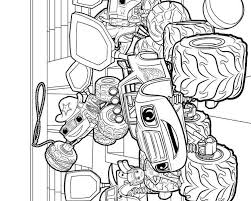 Blaze And The Monster Machines Printable Coloring Pages At