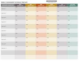 weekly assignment template 15 free weekly calendar templates smartsheet