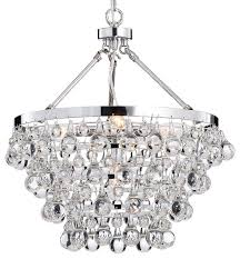 crystal glass 5 light luxury chandelier chrome