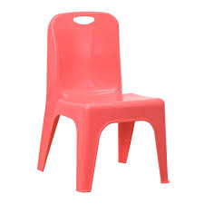 red school chair.  Red Flash Furniture Red Plastic Stackable School Chair With Carrying Handle And  11 In Seat Height With I