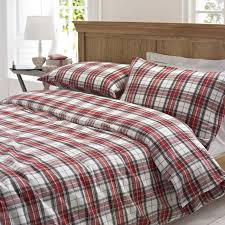 33 well suited design cotton duvet covers glencoe red tartan brushed cover set by marquis dawe com king uk