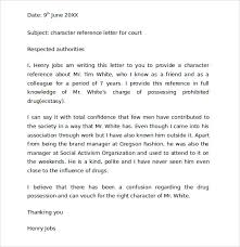Character Reference Letter Template For Family Court 9 Character