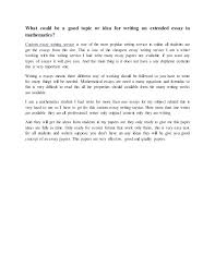 Topic In Math Essay On Math What Should Math Essays Contain