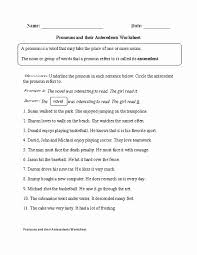 Pronoun Antecedent Agreement 35 Printable Pronouns And Antecedents Worksheets Swiftcantrellpark Org