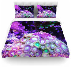 liz perez c reef purple black duvet cover cotton twin contemporary