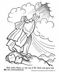 10 Commandments Coloring Page Moses And The Ten Commandments Old