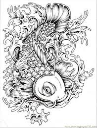 Small Picture Koi Fish Coloring Page exprimartdesigncom