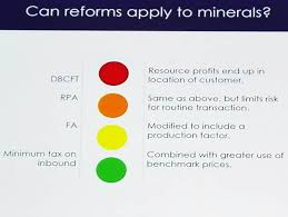 corporate tax reform proposals applied to mineral sector igf