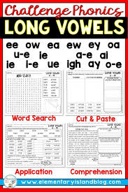 Find all the long e words in the puzzle. Long Vowel Challenge Worksheets 99worksheets