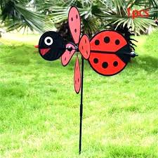 outdoor wind spinners windmill yard decor ble bee ladybug whirligig spinner home garden hanging lawn and spinne