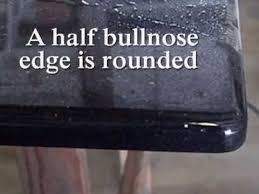 half bullnose edge on granite countertops