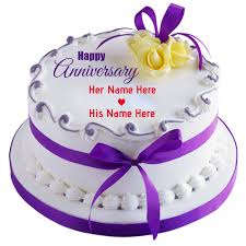 Anniversary Cake Images With Name Editing Delicious Cake Recipe
