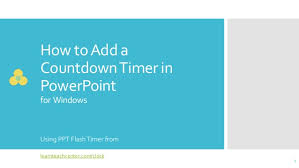 Embed Countdown Timer In Powerpoint Slide