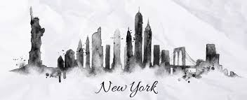 s silhouette new york city painted 260898500 shutterstock 260898500