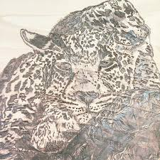 Leopard Pyrography by Cathy Johnson