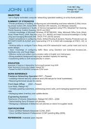 Entry Resume Sample