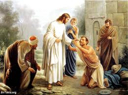 Image result for picture of Jesus helping others