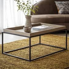 grey oak novato tray coffee table