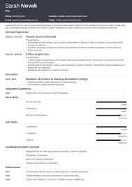 Nursing Student Resume Template Guide For New Grads Skills List