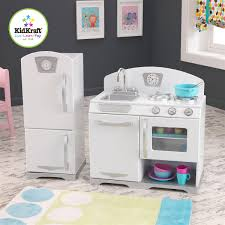 Kid Craft Retro Kitchen Kidkraft White Retro 2 Pc Kitchen And Refrigerator