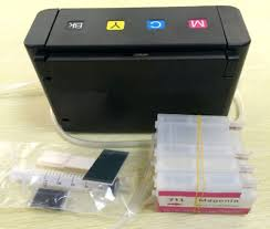 Continuous Ink Supply System For H P T120 T520 With <b>Empty</b> for ...
