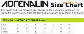 Kids Wetsuit Child Size8 Adrenalin 1 5mm Neoprene Top